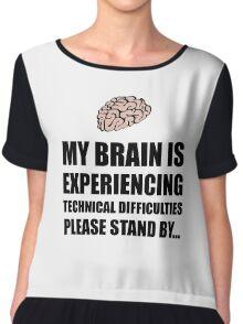 Brain Technical Difficulties Chiffon Top