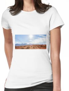 Panorama of Valley of Fire State Park, Nevada Womens Fitted T-Shirt