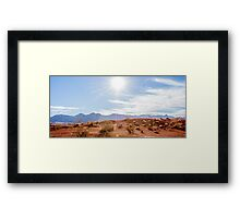Panorama of Valley of Fire State Park, Nevada Framed Print