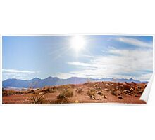 Panorama of Valley of Fire State Park, Nevada Poster