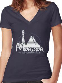 Parody mordor Women's Fitted V-Neck T-Shirt