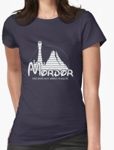 Parody mordor Womens Fitted T-Shirt