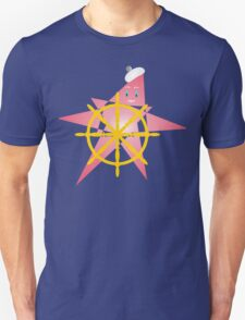Funny Starfish at the Helm Unisex T-Shirt