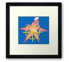 Funny Starfish at the Helm Framed Print