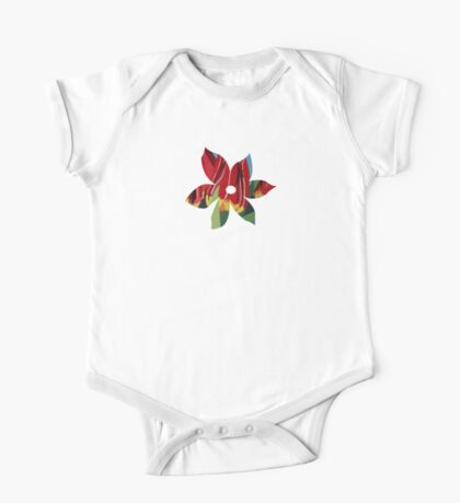 Red & Yellow Tulips One Piece - Short Sleeve