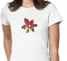 Red & Yellow Tulips Womens Fitted T-Shirt