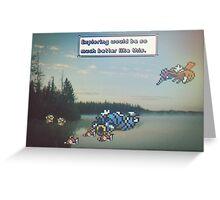 Pokemon Exploring Greeting Card