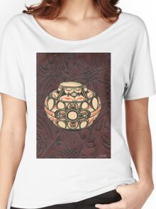 Native American Pot Indian Pottery Leather Women's Relaxed Fit T-Shirt