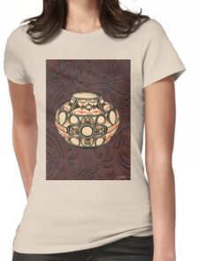 Native American Pot Indian Pottery Leather T-Shirt
