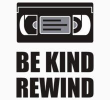 VHS Cassette Tape Be Kind Rewind Kids Tee