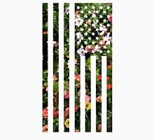 Floral USA Flag Unisex T-Shirt