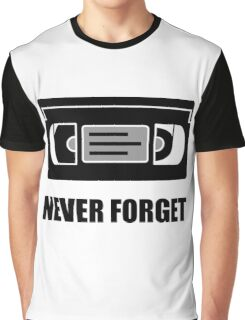 VHS Cassette Tape Never Forget Graphic T-Shirt