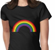 Rainbow / Arc-En-Ciel / Arcoíris / Regenbogen (6 Colors) Womens Fitted T-Shirt