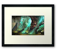 underwater journey  Framed Print
