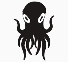 Black Octopus Kids Tee