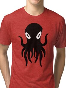 Black Octopus Tri-blend T-Shirt