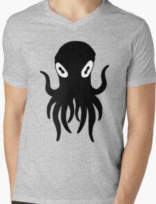 Black Octopus Mens V-Neck T-Shirt