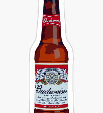 Budweiser Bottle Sticker