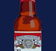 Pop Art Budweiser Bottle by KnightsOfShame