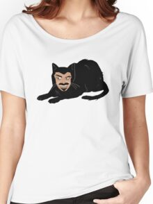 Vlad the Cat (Green) Women's Relaxed Fit T-Shirt