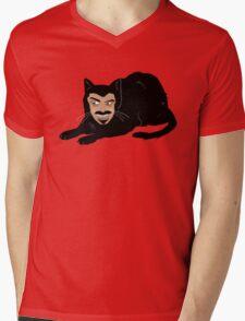 Vlad the Cat (Green) Mens V-Neck T-Shirt