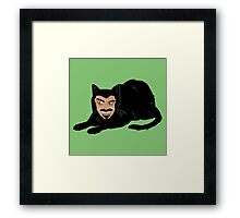 Vlad the Cat (Green) Framed Print