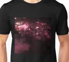 Red Stars - Abstract Fractal Artwork Unisex T-Shirt