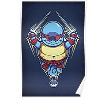 Ninja Squirtle - Print Poster