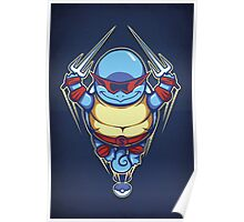 Ninja Squirtle - Print Poster