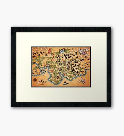 Johto Map Framed Print