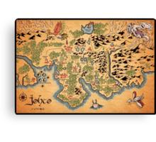 Johto Map Canvas Print