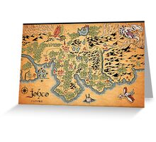 Johto Map Greeting Card
