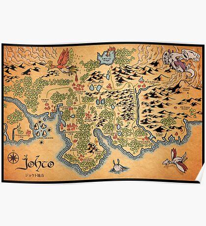 Johto Map Poster
