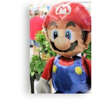 Mario on HELIUM! Mama Mia! Canvas Print
