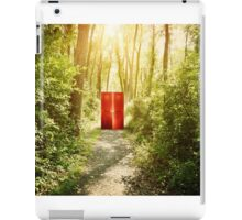 Magical Red Surreal Doors in Nature Forest  iPad Case/Skin