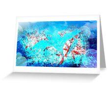Elegant blue flowers Greeting Card