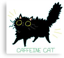 Caffeine Cat Canvas Print
