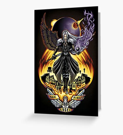 One Winged Angel - Print Greeting Card