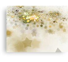 Golden Stars - Abstract Fractal Artwork Canvas Print