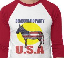 DEMOCRATIC PARTY Men's Baseball ¾ T-Shirt