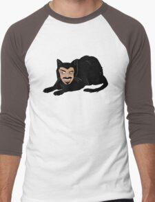 Vlad the Cat (Gray) Men's Baseball ¾ T-Shirt