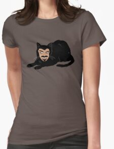 Vlad the Cat (Gray) Womens Fitted T-Shirt