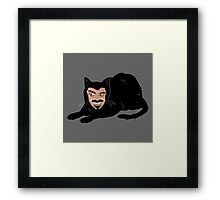 Vlad the Cat (Gray) Framed Print