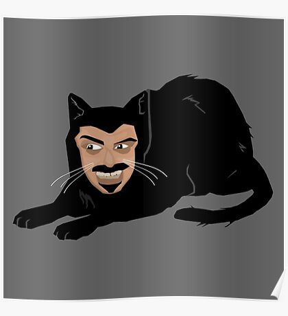 Vlad the Cat (Gray) Poster