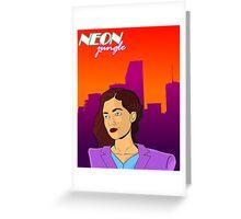 Neon Jungle Greeting Card