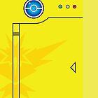 Team Instinct Themed Pokedex Phone Case by patmakesart