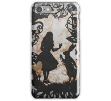 Alice Paper Cutout Metallic iPhone Case/Skin