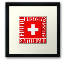 SWITZERLAND Framed Print