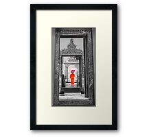 Wat Pho, the Temple of the Reclining Buddha in Bangkok, Thailand Framed Print
