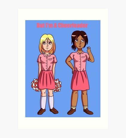 "Ymir and Historia ""But I'm a Cheerleader"" Art Print"